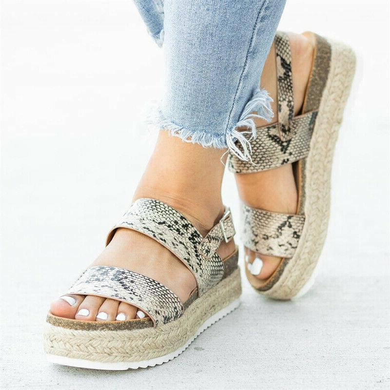 Women's Ankle Strap Buckle Wedge