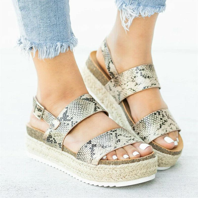 Women's Ankle Buckle Wedge Shoes