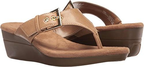 women s flower wedge sandal light tan