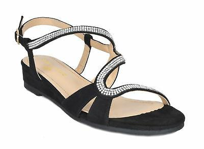 DREAM PAIRS Low Wedges Slingback Summer Sandals
