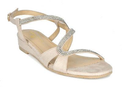 DREAM PAIRS Low Wedges Summer