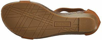 Kenneth REACTION Gal Sandal Toffee 7.5 M US