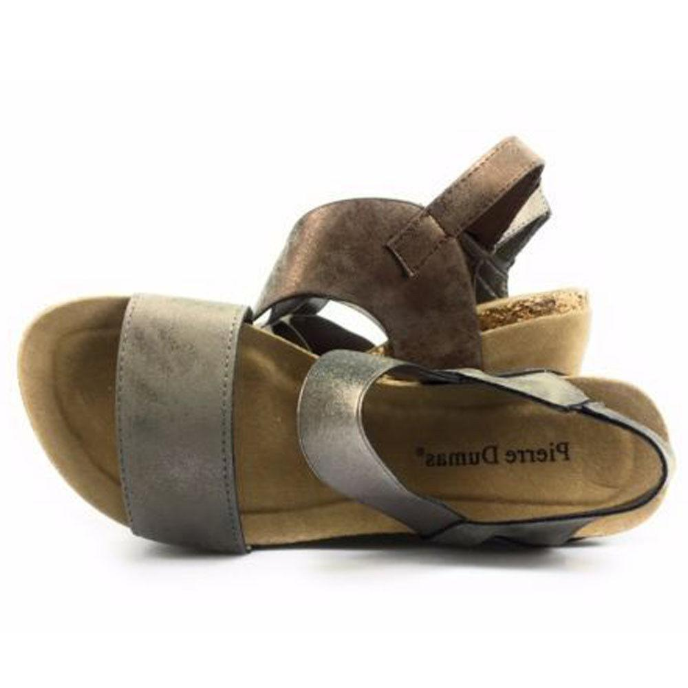 women s hester 1 pewter wedge sandals