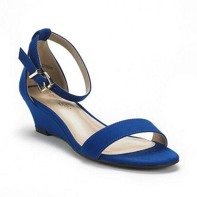 DREAM PAIRS Ankle Strap Low Wedge Sandals