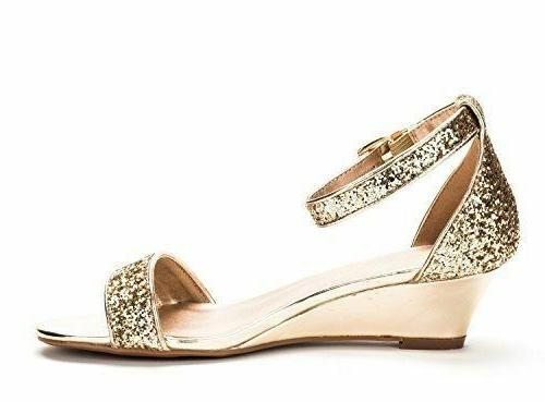 Gold Ankle Low Wedge - 8 M