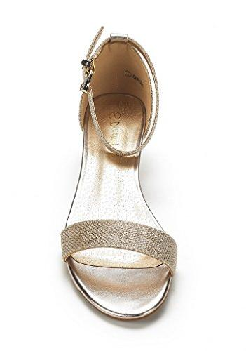 DREAM Women's Gold Strap Low Wedge