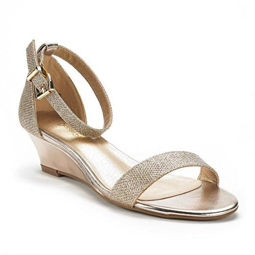 women s ingrid gold plaid ankle strap