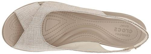 Crocs Women's Shimer Slngbck Wedge Sandal, M US