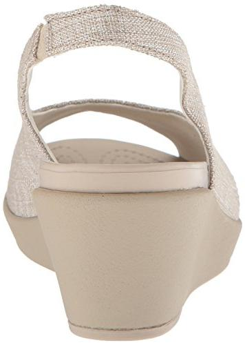 Crocs Women's Leigh Ann Shimer Slngbck WDG W Wedge 9