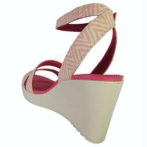 crocs Leigh Graphic Wedge, 9 M US