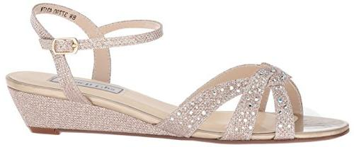 Touch Women's Lena Wedge Sandal, Champagne, W