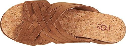 UGG Lilah Wedge Sandal, Chestnut, US