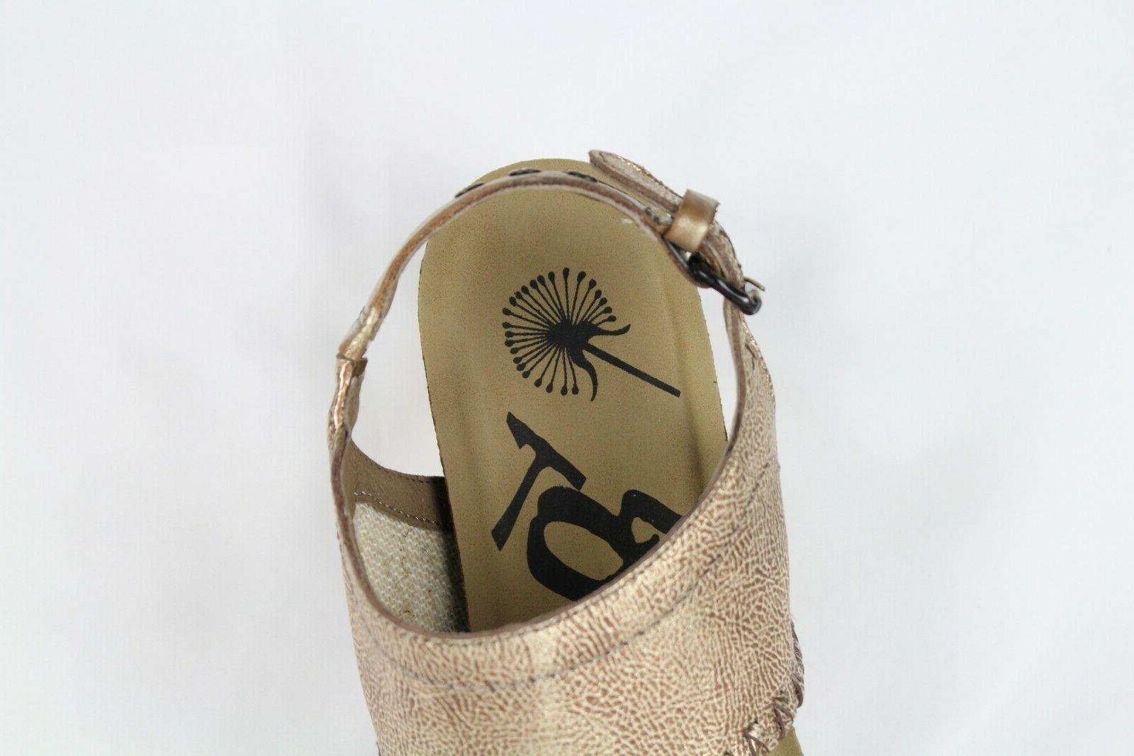 OTBT Wedge Gold Leather