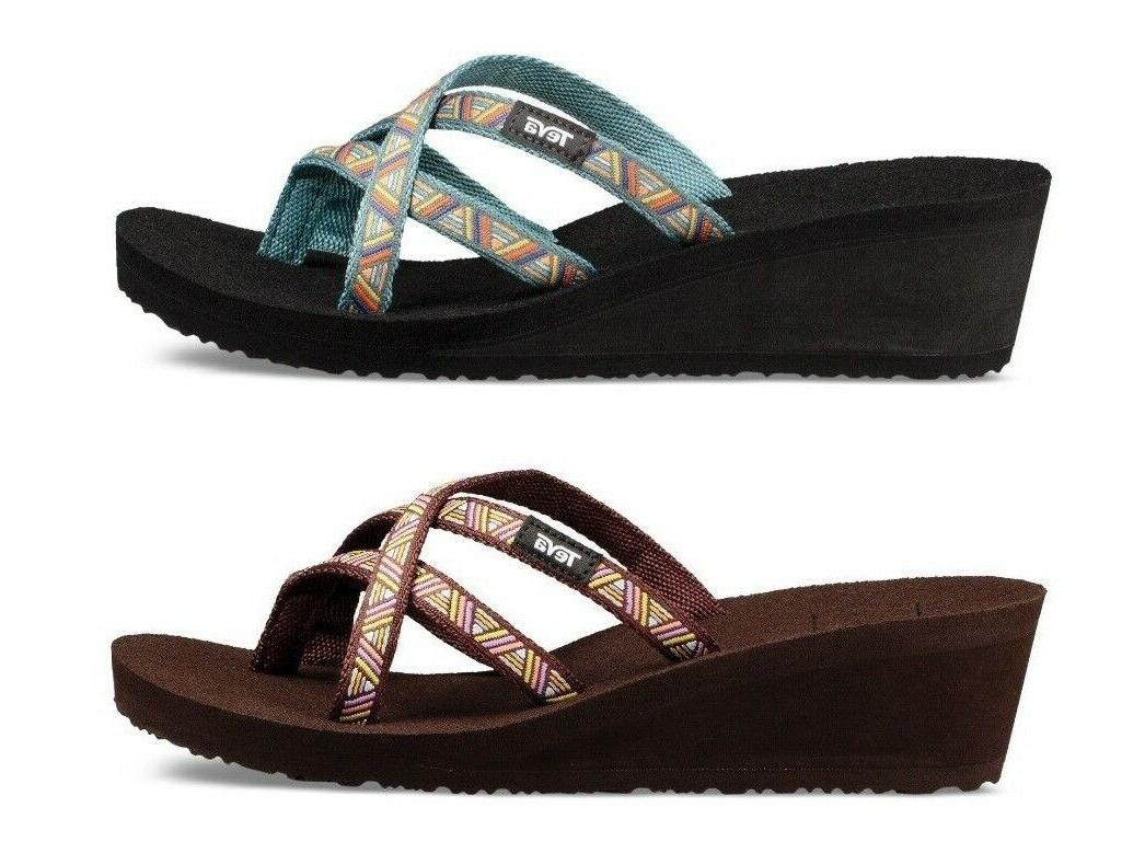 Teva Women's Mush Mandalyn Wedge Ola 2 Flip Flops Sandals Si