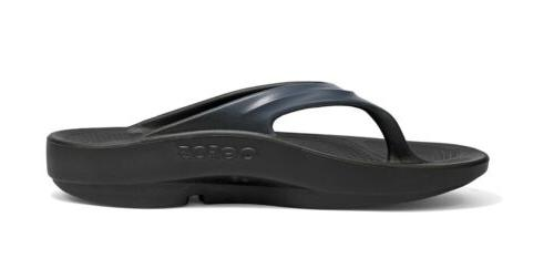 OOFOS Thong Black/Graphite