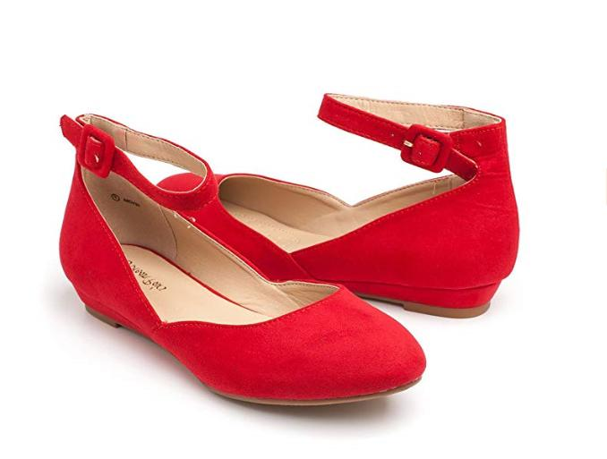 DREAM Low Wedge Flats RED 10