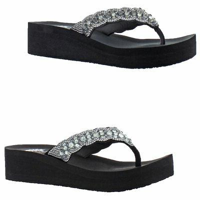 women s rubie embellished eva wedge thong
