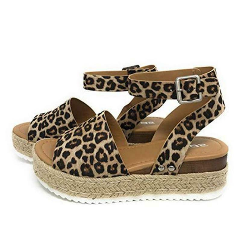 Women's Wedge Open Toe Ladies Platform US