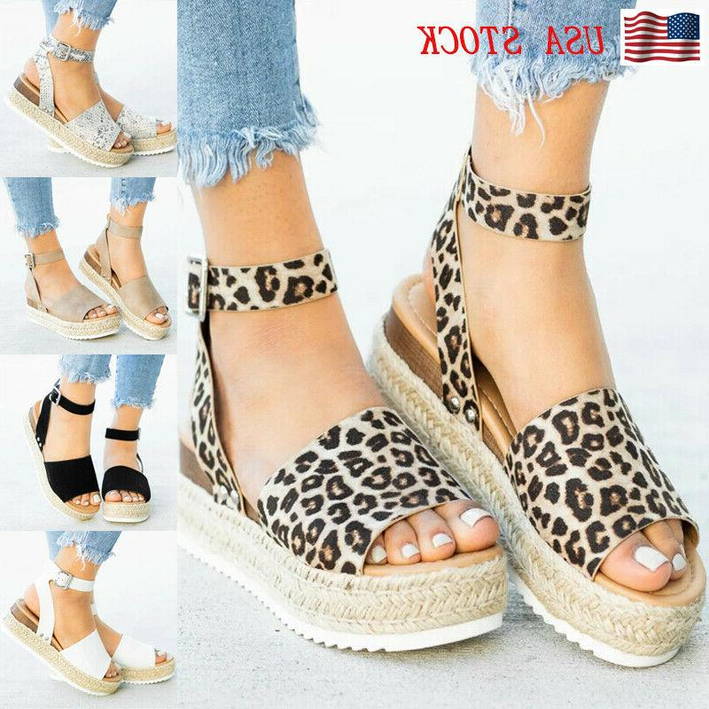 women s sandals wedge heel open toe