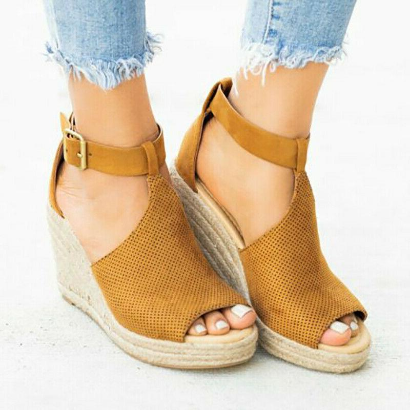 Women's Ankle Ladies Open Toe Espadrilles