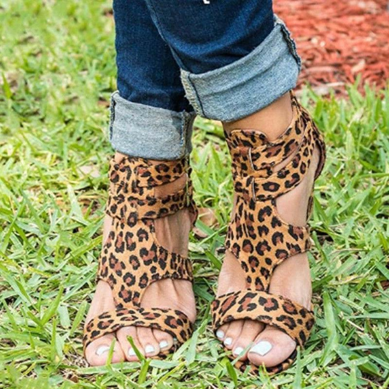 Women's Shoes Leopard Sandals 2019 Autumn