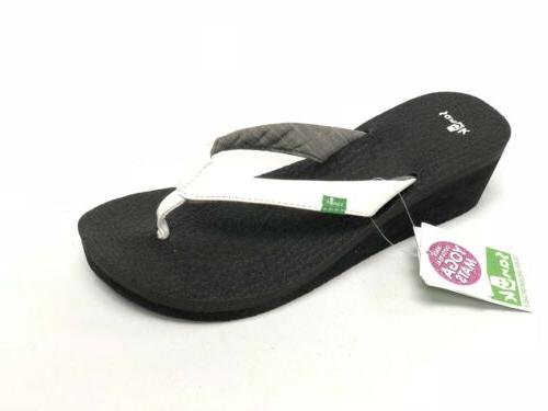 Women's Shoes Sanuk Yoga Mat Wedge Casual Flip- Flop Sandals