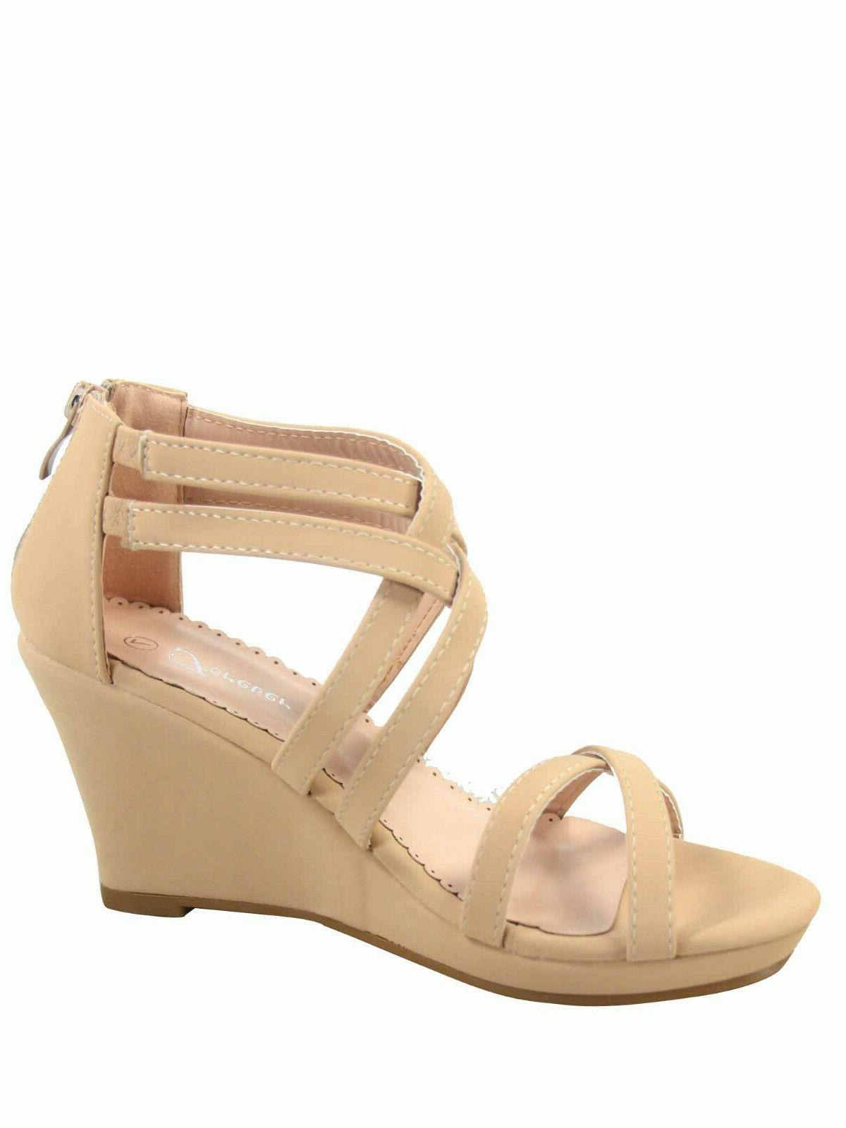 Women's Strap Wedge 10