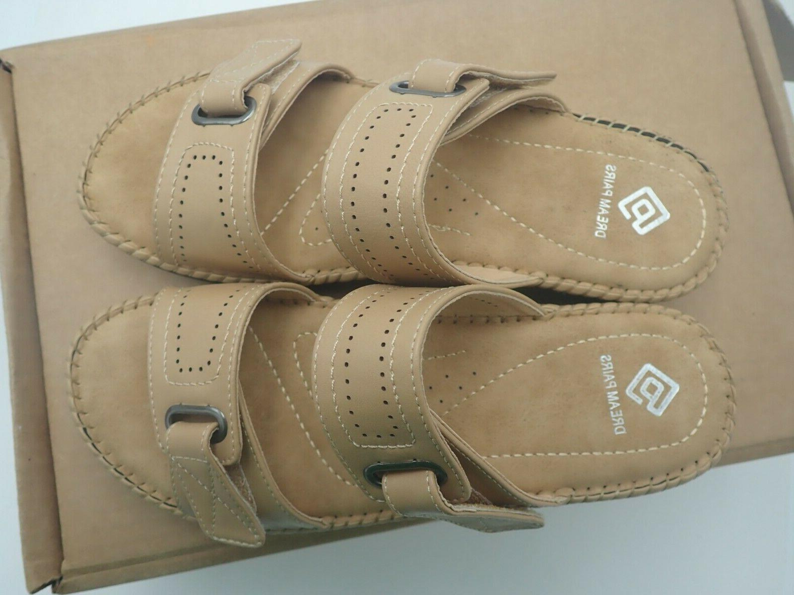 DREAM PAIRS Beige Wedges Slides Sandals Size M