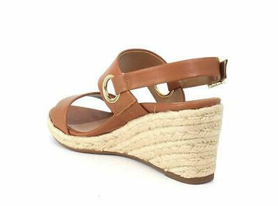 Leather Ankle-Strap Sandals Tan