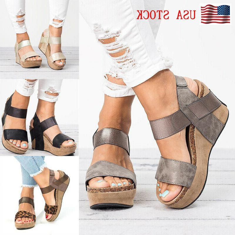 women s wedge heel sandals ladies summer