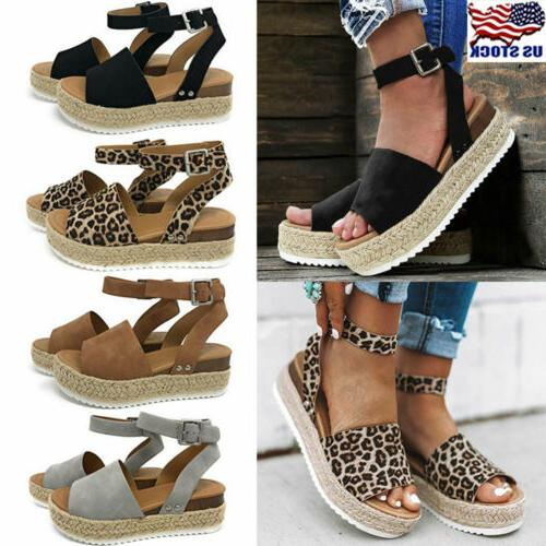 women s wedge heels ankle strap sandals