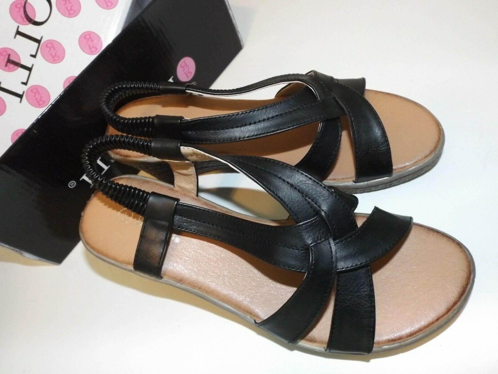 Rasolli Women's Black Straps Brown Size Shipping