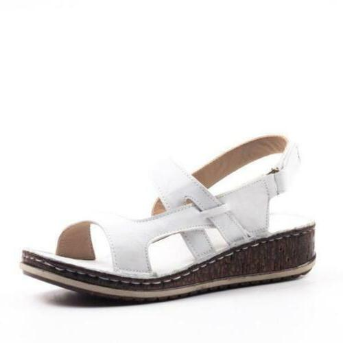 Womens Ankle Summer Low Heels Sandals Shoes 6-9