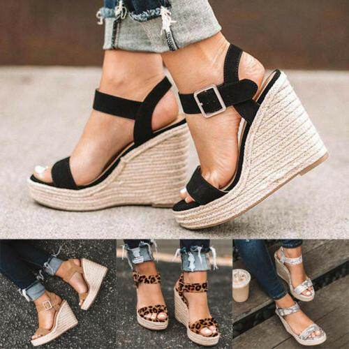 Womens Ankle Strap Espadrille Summer Shoes