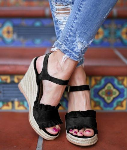 Womens Buckle Sandals Size