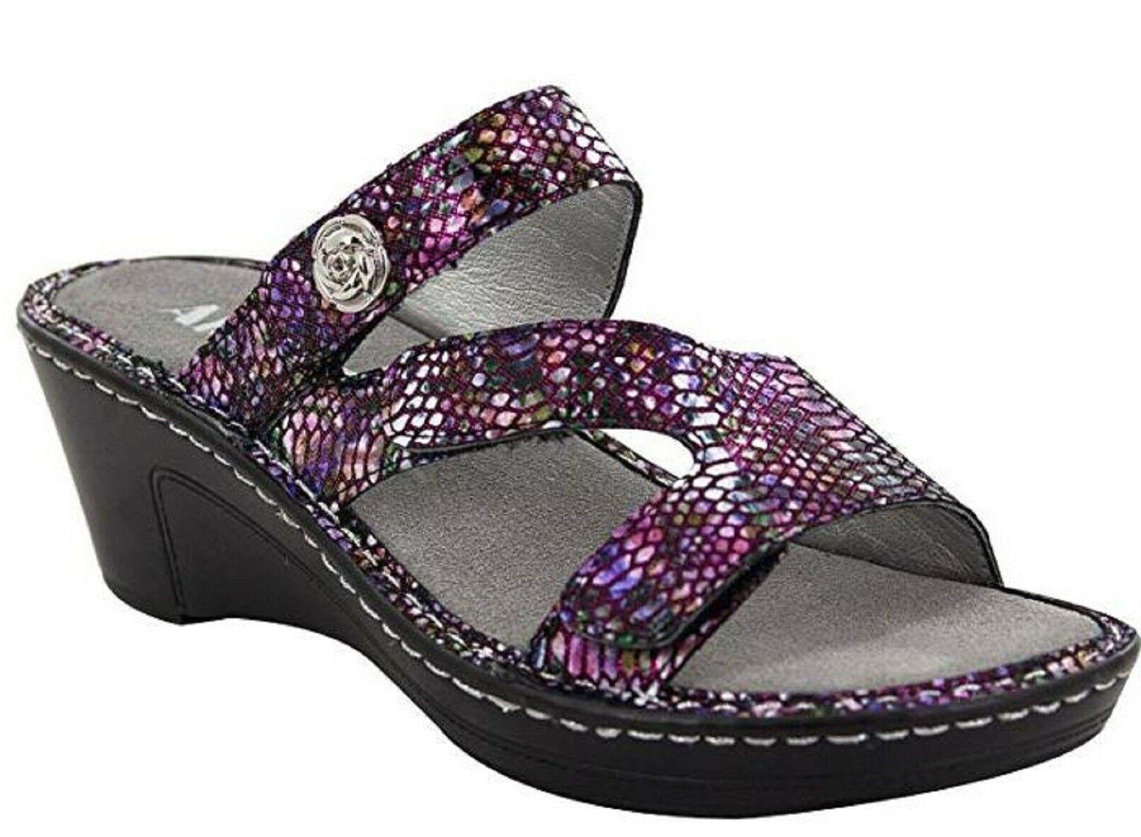 womens loti leather wedge sandals funtastic size