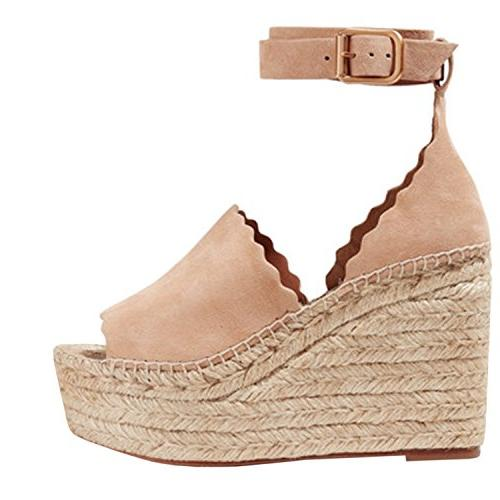Wedges Toe High Heel Strap Up