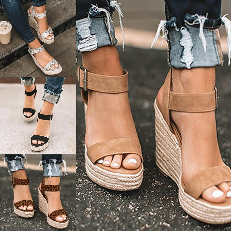 womens platform sandals high wedge heel espadrille