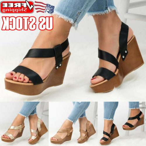 womens platform wedge heels sandals ladies summer