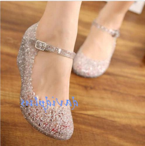 Womens Sandals High Heels shoes Girls Wedge Glass Jelly Shoe
