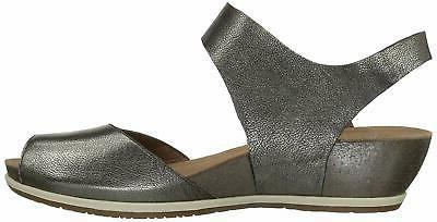 Dansko Womens Vera Leather Casual, Pewter Size