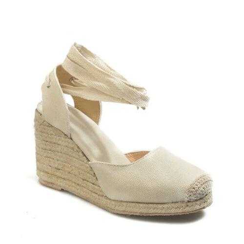 Women Sandals Platform Slingback Espadrilles Pumps Lady Shoes