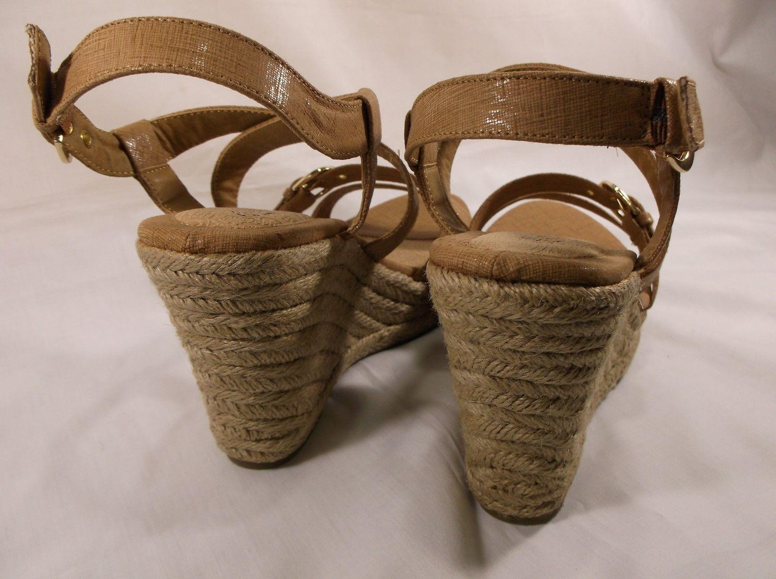 EUROSOFT womens wedge espadrille Tan Size in