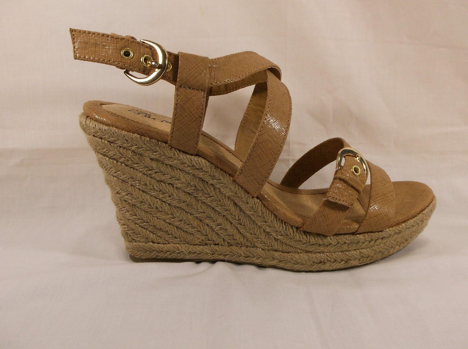 womens wedge sandals espadrille persia sand tan