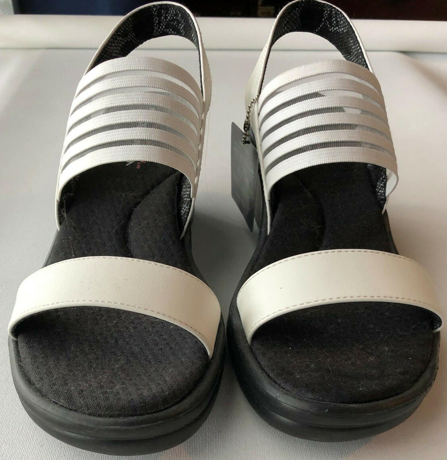womens white rumblers sci fi wedge sandal