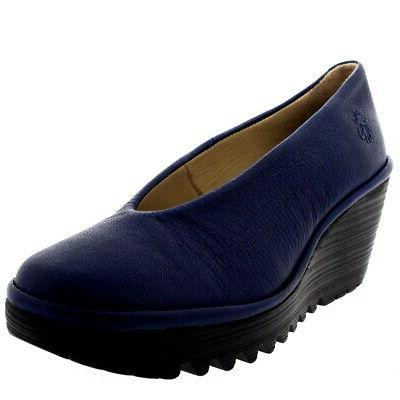 Womens Fly Mousse Smart On Wedge Heel Work Shoes US