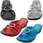 YOUNG-13 Womens Sandals Peep Toe Slides Shoes Low Wedge Heel