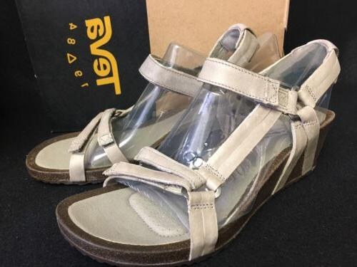 Teva Ysidro Universal Wedge Leather Womens Sandal Low Heel S