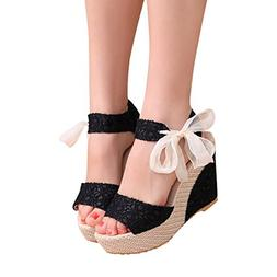 Hemlock Lady Slope Sandals Loafers Shoes High Wedge Sandals