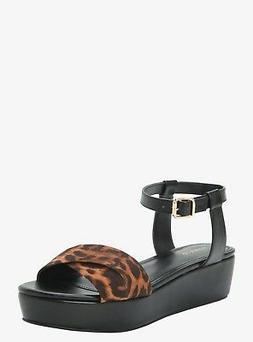 Torrid Leopard Crisscross Strap Wedge Platforms Shoes Size: